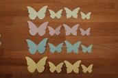 Farfalle varie misure in cartoncino