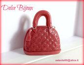 Ciondolo Borsa in miniatura Alma Louis Vuitton vernice realizzata a mano in fimo cernit...