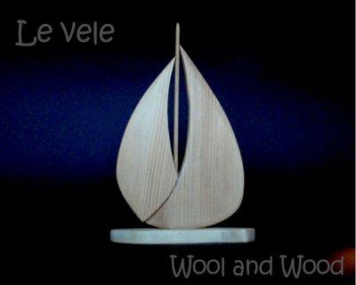 Barca a vela in legno massello