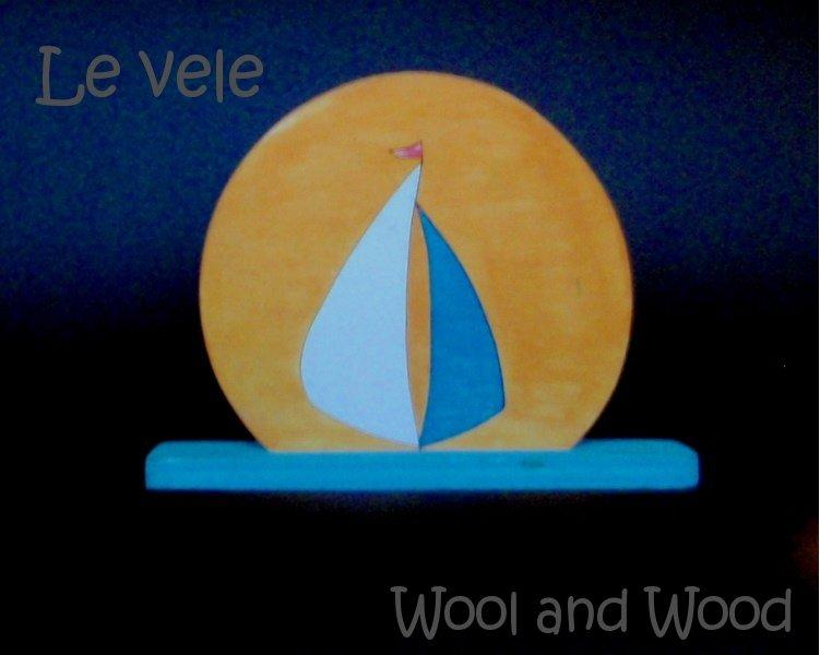 Barca a vela in legno