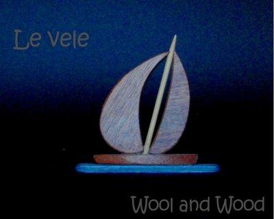 Vela in legno massello