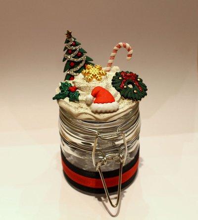 Barattolino decorato Natale