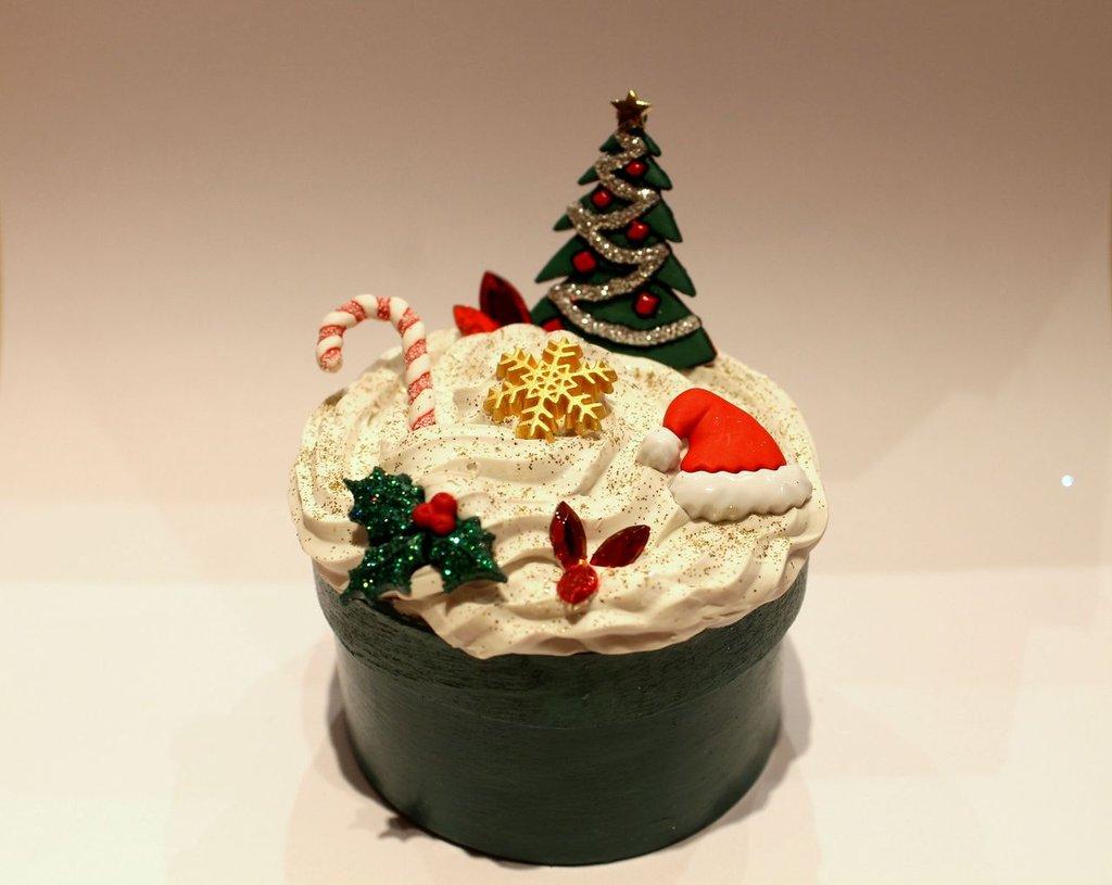 Scatolina decorata Natale