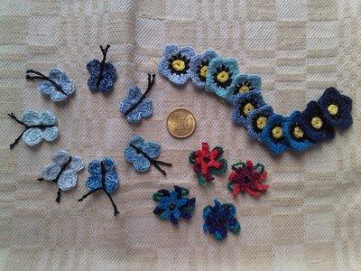 Lotto fiorellini e farfalline vari colori