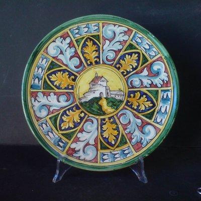 Ceramic Maiolica Wallplate