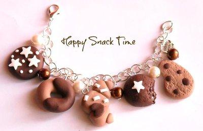 Bracciale charm fimo pan di stelle mooncake abbracci