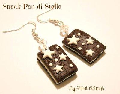 Orecchini ciondoli charms merenda pan di stelle mooncake