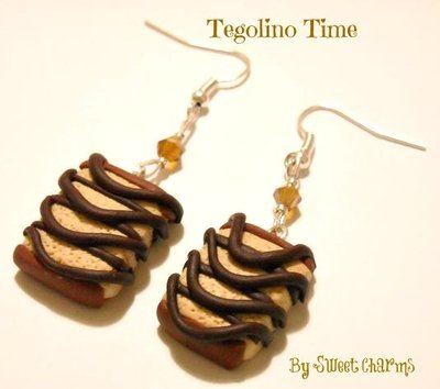 Orecchini ciondoli charms merenda tegolino