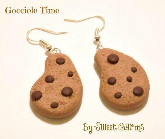 Orecchini ciondoli charms biscotti gocciole