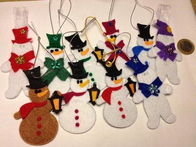 addobbi natalizi realizzati in feltro