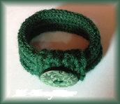 bracciale lana verde scuro