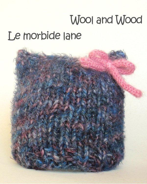 Cappellino quadrato per neonata 3/6 mesi blu mèlange