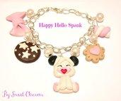 Bracciale fimo idea regalo Hello Spank con dolci
