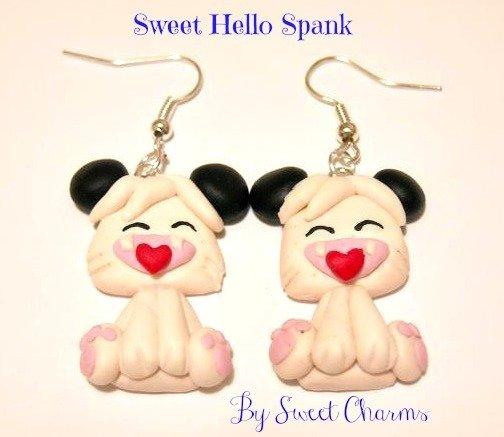 Orecchini ciondoli fimo Hello Spank idea regalo