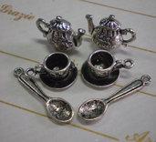 Set da Tea 6 Pezzi Argento Tibetano