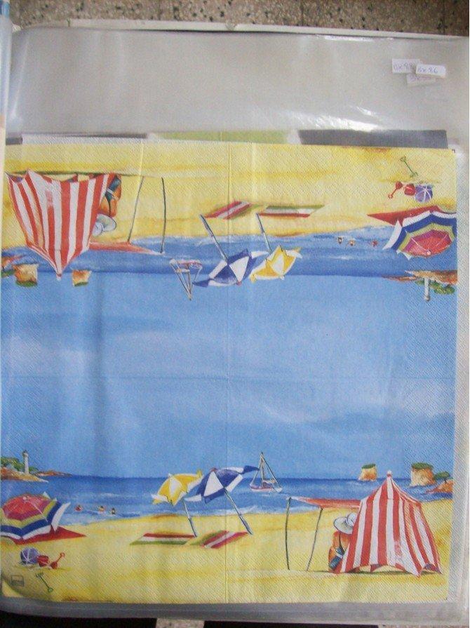 tovagliolo ombrelloni sulla spiaggia