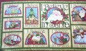 Pannello natalizio stoffa americana