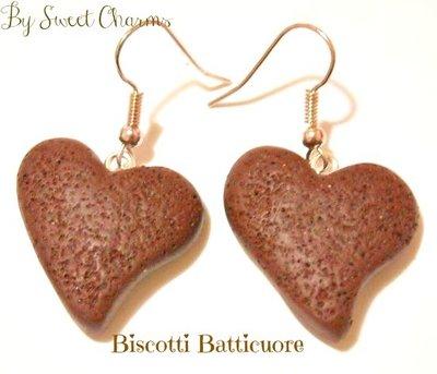 Orecchini ciondoli biscotti batti cuore pan di stelle mulino bianco