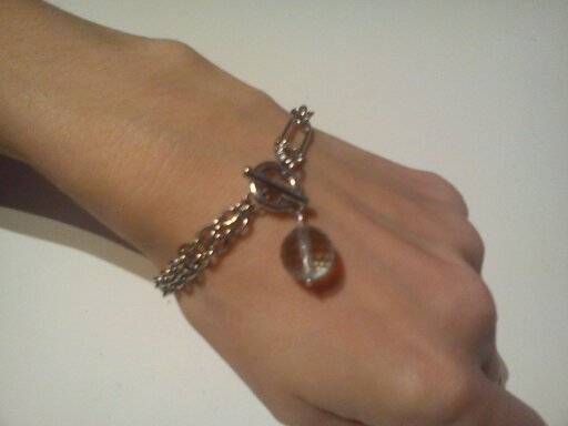braccialetto con pietra in radice acquamarina
