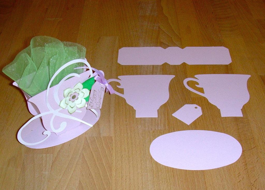 """kit x realizzazione """"Tea cup 3D"""""""