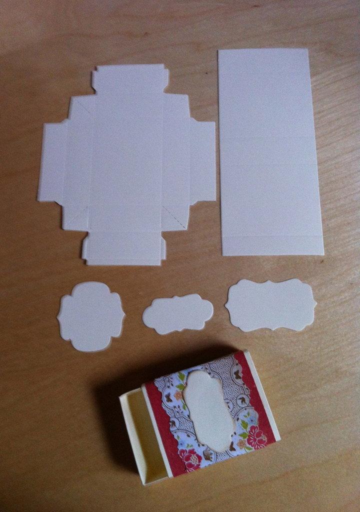 "Kit x realizzazione scatolina ""matchbox"""