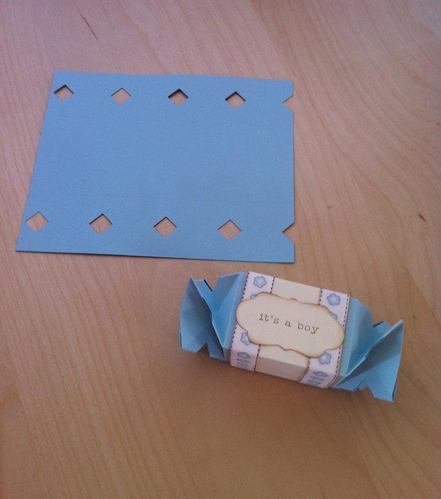 """Kit x realizzazione scatolina """"Candy Wrapper"""""""