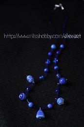 """Collana di perle blu """"OLTREMARE"""""""