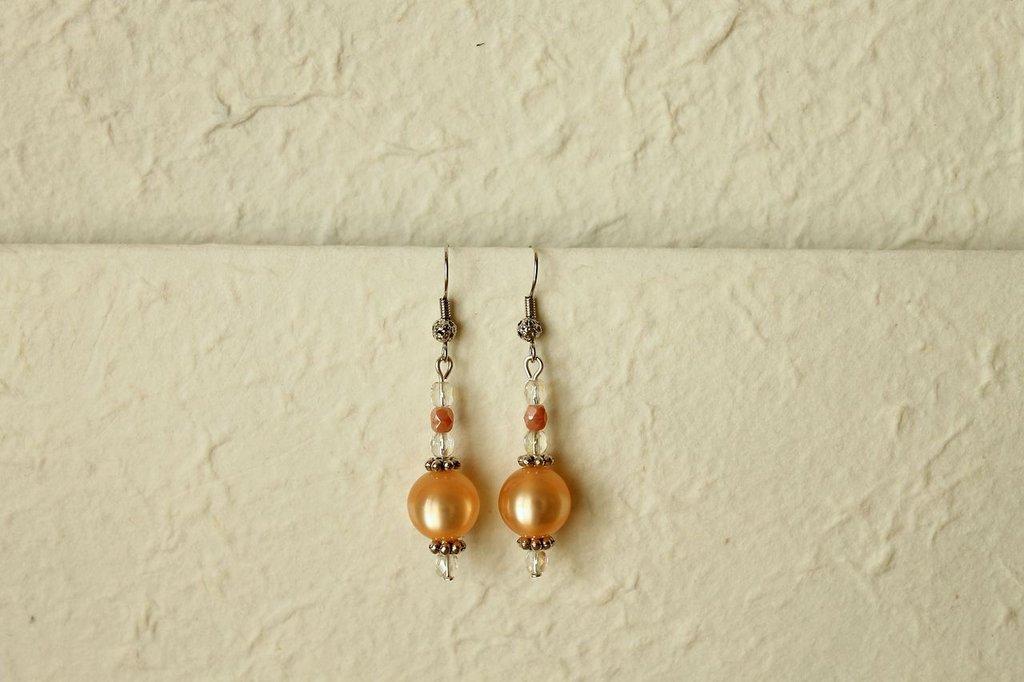Orecchini handmade - Peach