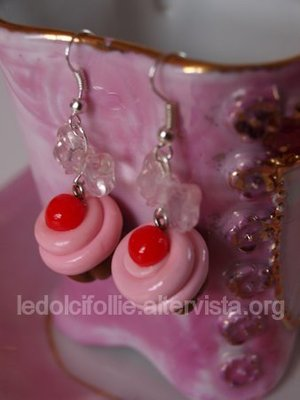Strawberries' Cupcake Earring