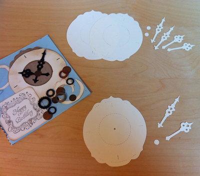 Clock Ornate & Hands in cartoncino fustellato