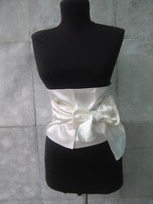 Corsetto White Satin - cintura