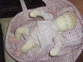 Bambola Waldorf neonato con culla
