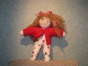 Bambola Waldorf doudou singola 25cm