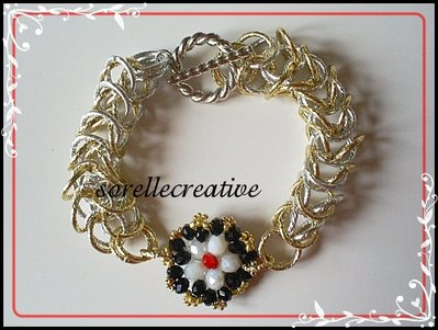 Bracciale chainmaille oro argento gold silver bracelet