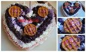 segnaposticentrotavola torta grande con dolci e portafoto