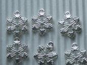 8 charms fiocchi di neve in metallo vend.