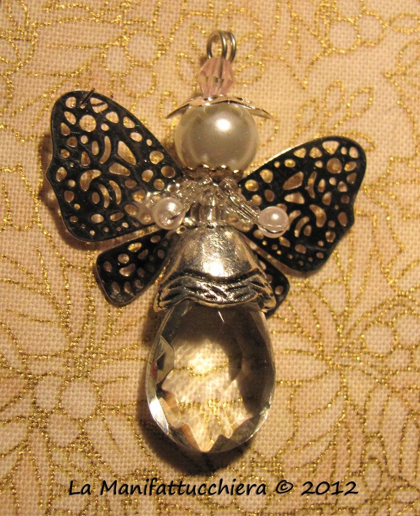 Angeli con gocce di vetro crystal