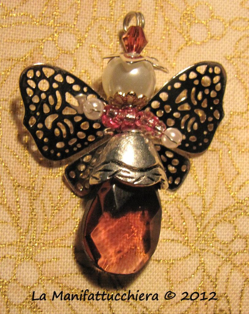 Angeli con gocce di vetro ametista