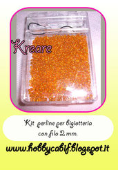 Kit perline conteria  25 mm. per bigiotteria