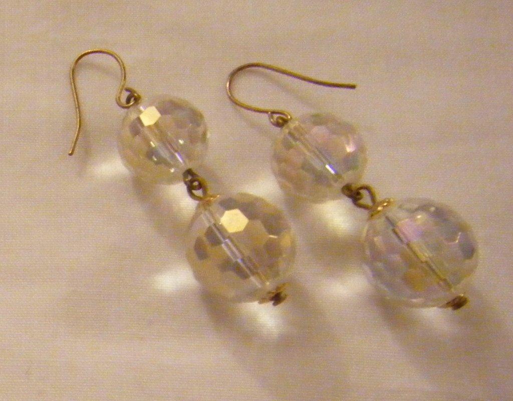 orecchini pendenti con perle in vetro cristall,fatti a mano