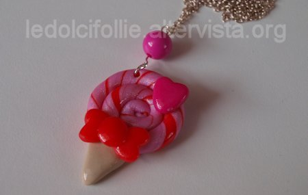 Pink Lollipop Necklace