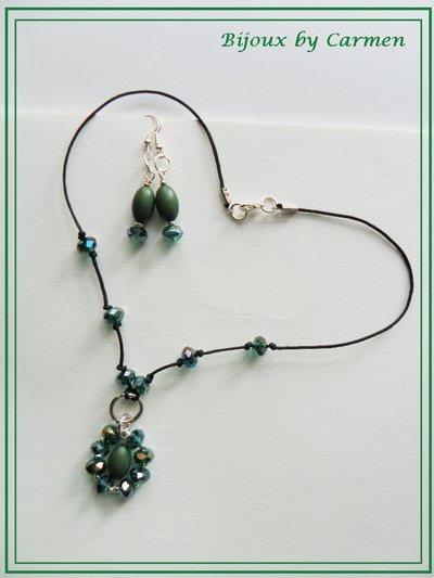 collana+orecchini VERDI
