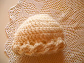 Cappello in pura lana bianco