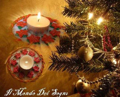 Porta candele fimo natalizio+piccolo OMAGGIO!