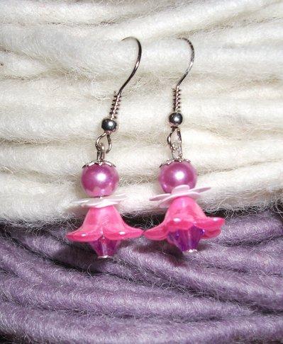 Orecchini Pendenti Elfo-fatina - pink version