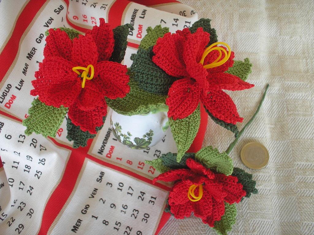 Stella di Natale ad uncinetto in cotone