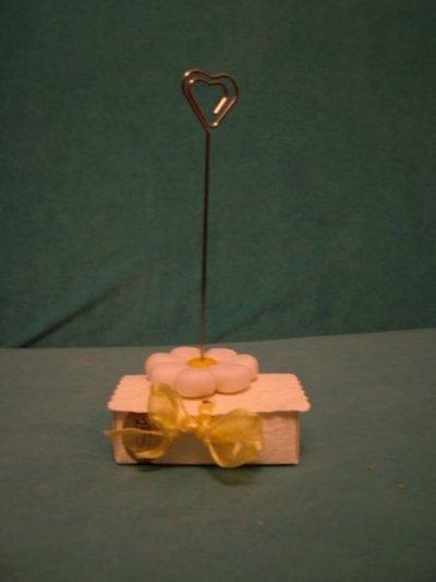 Margherita portamemo o portafoto - adatta anche per bomboniere