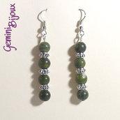 Orecchini green lace stone