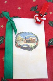 Biglietto natalizio con molletta decorata
