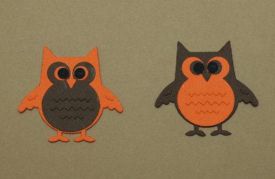 Gufetti in cartoncino - cut owl